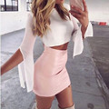 2016 Sexy Women Mini Skinny Skirts Autumn High Waist Ladies Zipper Bodycon Package Hip Slim Faux Leather Pencil Skirts Plus Size