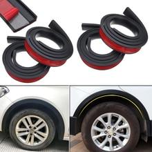 4 adet 4.9ft siyah evrensel araba çamurluk genişletici tekerlek kaş şekillendirici aksesuarları kalıplama koruyucu dudak Anti Scratch Arch Trim