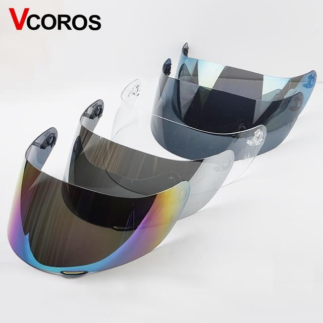 1d814168 VCOROS 902 motorcycle helmet face shield K3 SV K5 Helmet black clear silver  mirror rainbwo tinted