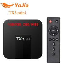10 шт. TX3 Мини Android 7.1 ТВ коробке 2 ГБ/16 ГБ 2.4 ГГц Wi-Fi media player 1 ГБ 8 ГБ TX3 мини Amlogic S905W 4 ядра IP ТВ коробка