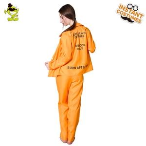 Image 4 - Halloween Prisoner Costumes Role Play Adult Womens Prisoner Suit Costumes