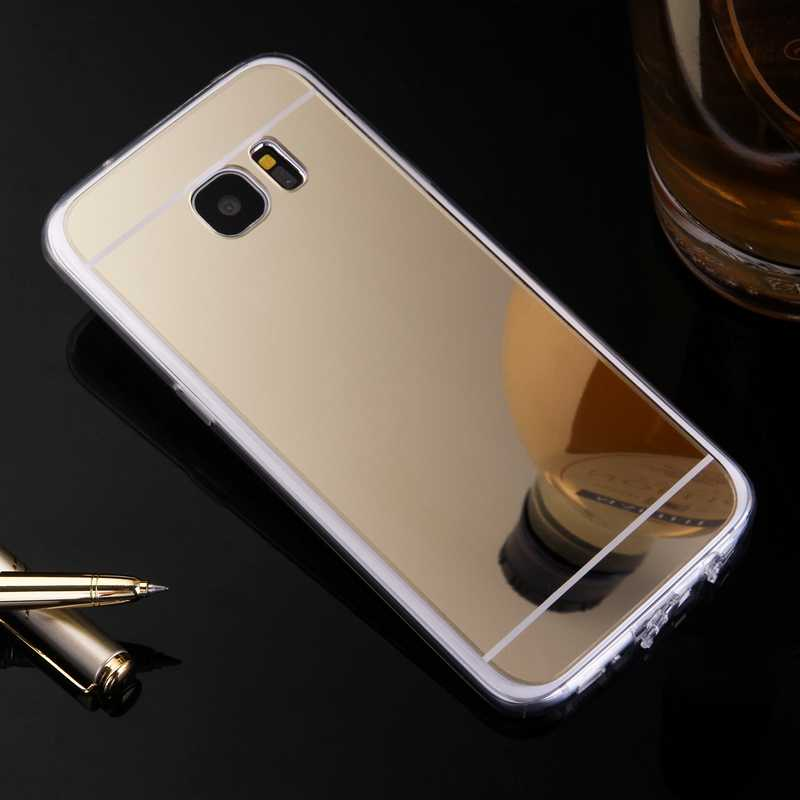 Mirror TPU Case Back Cover For Samsung Galaxy M10 M20 J3 J5 J510 J7 2016 A5 A6 A7 A8 2018 S4 S5 S6 S7 Edge S8 SP S10 Plus