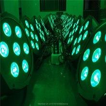 6 шт./лот Быстрая Доставка Супер Яркий LED Par RGBW SlimPar Quad 7 Led Плоским Пар 7×12 Вт RGBW 4IN1