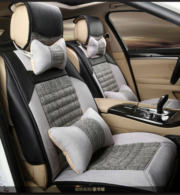 Automotive Linen Cushion Set Car Seat Covers Mat Pu Pad For ROVER 75 MG TF