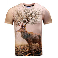Nature T Shirt Deer Forest Vibrant Awesome Tees Summer Style Fashion Clothing Women Men 3d Print