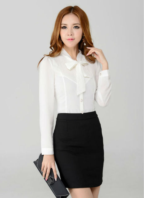c8c519634903 New Autumn Winter Women Skirt Suit Work Wear Sets Long Sleeved Blouse sets  for Office Ladies