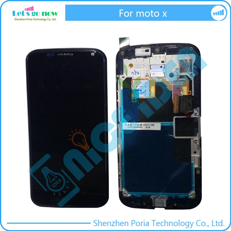 ФОТО New LCD For Motorola MOTO X 1060 XT1058 XT1056 XT1053 Display With Touch Screen Digitizer Assembly Screen With Frame