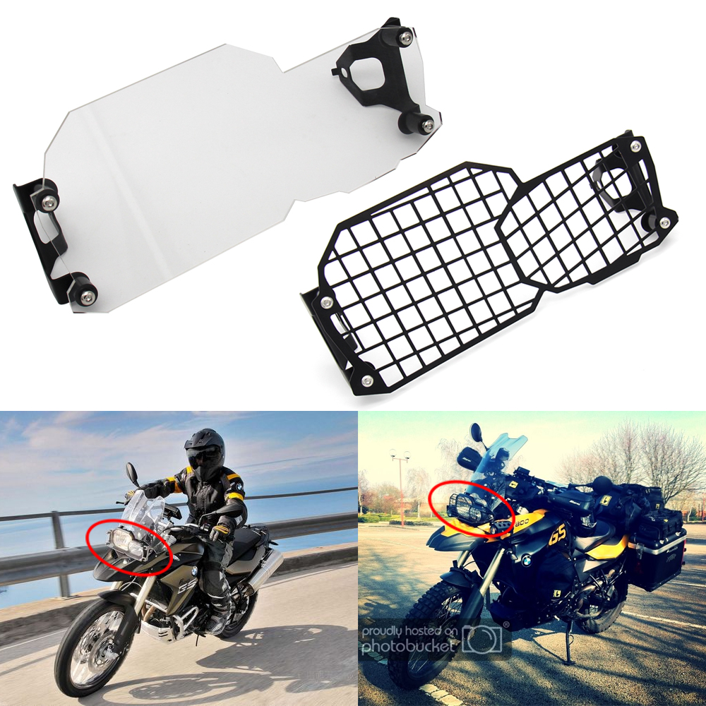 Front Headlight Guard Cover Metal Net/Clear Lens Head Light Lamp Protector For BMW F650GS F700GS F800GS Adventure 2008-2017 2018