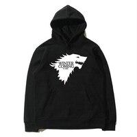 Ücretsiz kargo kış moda hoodies erkekler oyunu thrones baskı Hoodie Kapüşonlu Sweatshirt pamuk Ceket Yeni hip hop hoodie