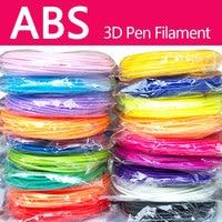 Bez zanieczyszczeń pla/abs 1.75mm 20 kolorów 3d długopis z włókien pla 1.75mm włókno pla włókno abs abs z tworzywa sztucznego pla z tworzywa sztucznego rainbow drutu w Długopisy 3D od Komputer i biuro na