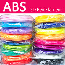 No pollution pla/abs 1.75mm 20 colors 3d pen filament pla abs plastic rainbow wire