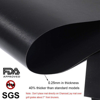 100% Non-stick BBQ Grill Mat Set of 3 - Heat Resistant, Reusable, Dishwasher Safe, Cleans Easily 40 * 33cm 2