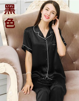 Cool summer natural 100 mulberry silk women's silk pyjamas for short sleeves