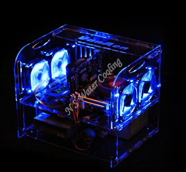 T29 Diy Acrylic Full Water Transparent Computer Case Standard Micro