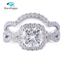 Queen Brilliance 2ct H Color Lab Grown Moissanite Diamond Engagement Wedding Ring Platinum Plated 925 Sterling Silver Women