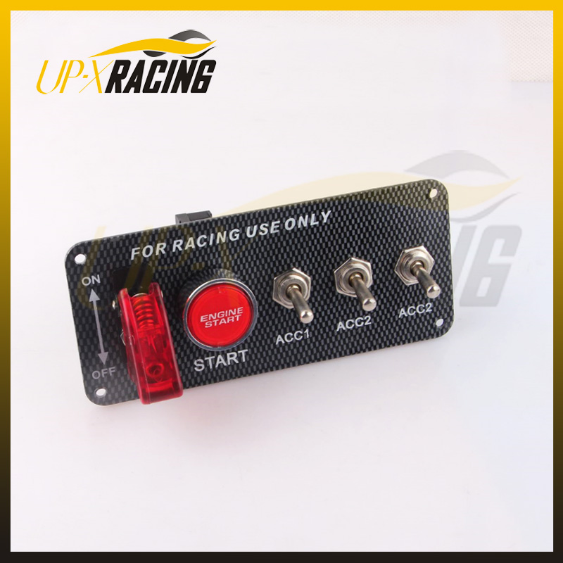 HOT SALE Car Accessory 12V LED Toggle Ignition Switch Panel Engine Start Push Button For Racing Car sr