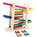 Bebé Ábaco Matemáticas Juguetes Niños Juguete Educativo Temprano Niños Resbaladiza Coche de Juguete con 4 Mini Coches