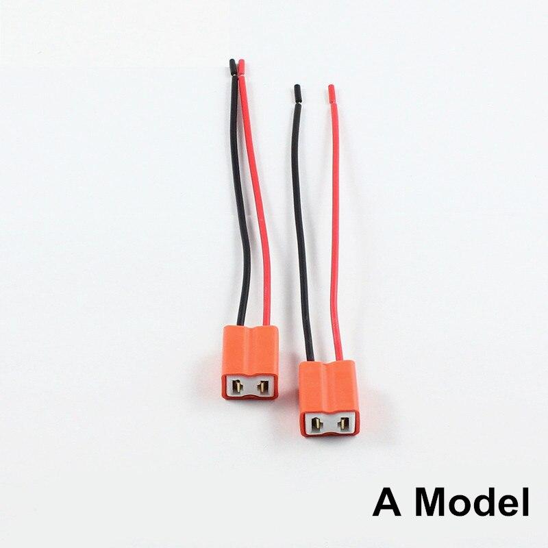 sourcing map 4pcs DC 12V H7 faisceau ampoule c/âblage adaptateur extension fil