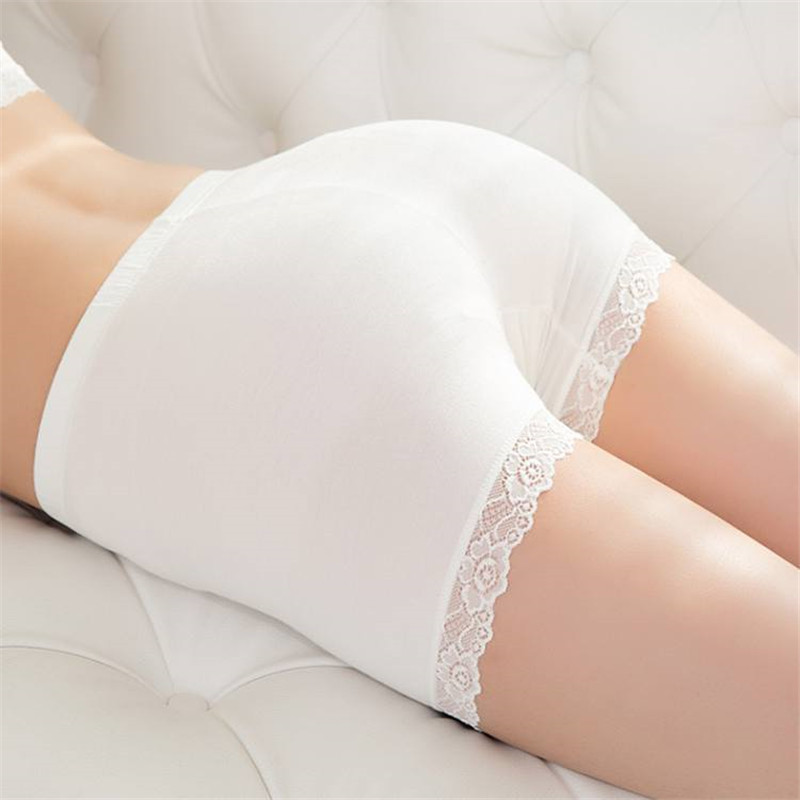 2017 Hot Women's Lace Chiffon Safe Underwear Trim Flesh Basic Pants All-Match Solid Breathable Ladies Safety Short Pants