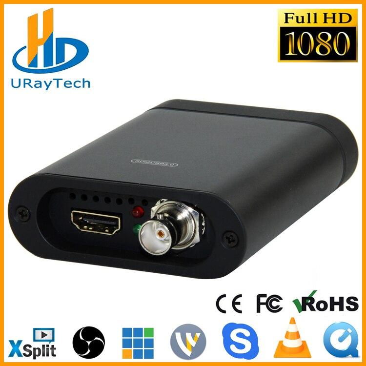 Full HD 1080 P HDMI SDI Captura Cartão USB3.0 Dongle HD Video Audio Grabber de Captura de Jogo Para Windows, Linux
