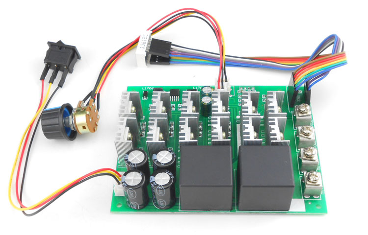 PWM DC 12v / 24v / 36v / 48v 60A  3000W  motor speed controller with reverse switch ( PWM HHO RC Controller)PWM DC 12v / 24v / 36v / 48v 60A  3000W  motor speed controller with reverse switch ( PWM HHO RC Controller)