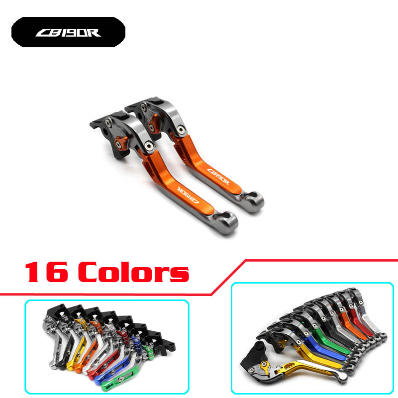 Free Shipping Motorcycle Adjustable Folding Extendable Brake Clutch Levers for honda CB190R CBF190R CBR190R