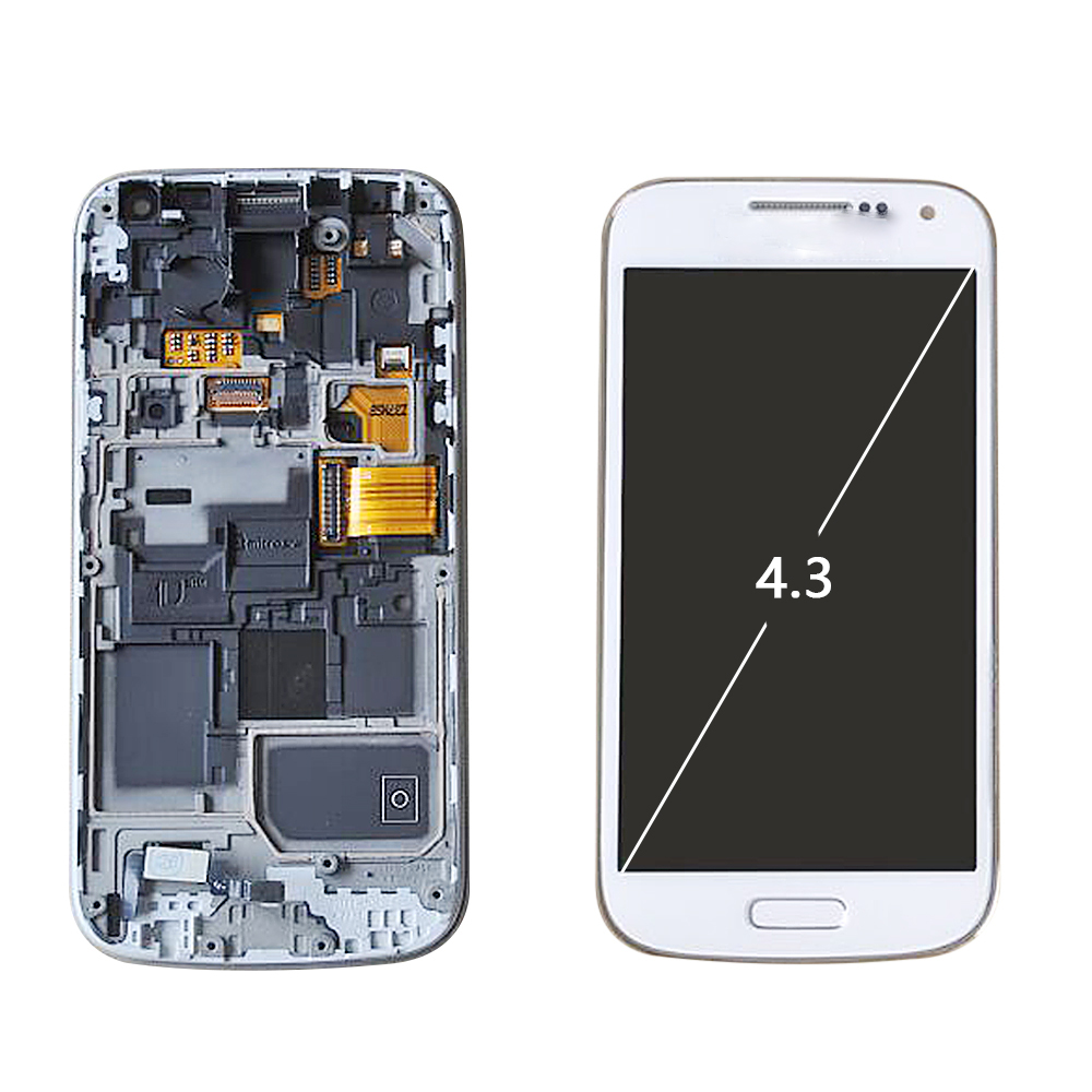 Sinbeda Super AMOLED <font><b>LCD</b></font> Für <font><b>SAMSUNG</b></font> <font><b>GALAXY</b></font> <font><b>S4</b></font> Mini Touchscreen Digitizer Montage i9190 i9192 i9195 <font><b>LCD</b></font> Display Mit Rahmen image