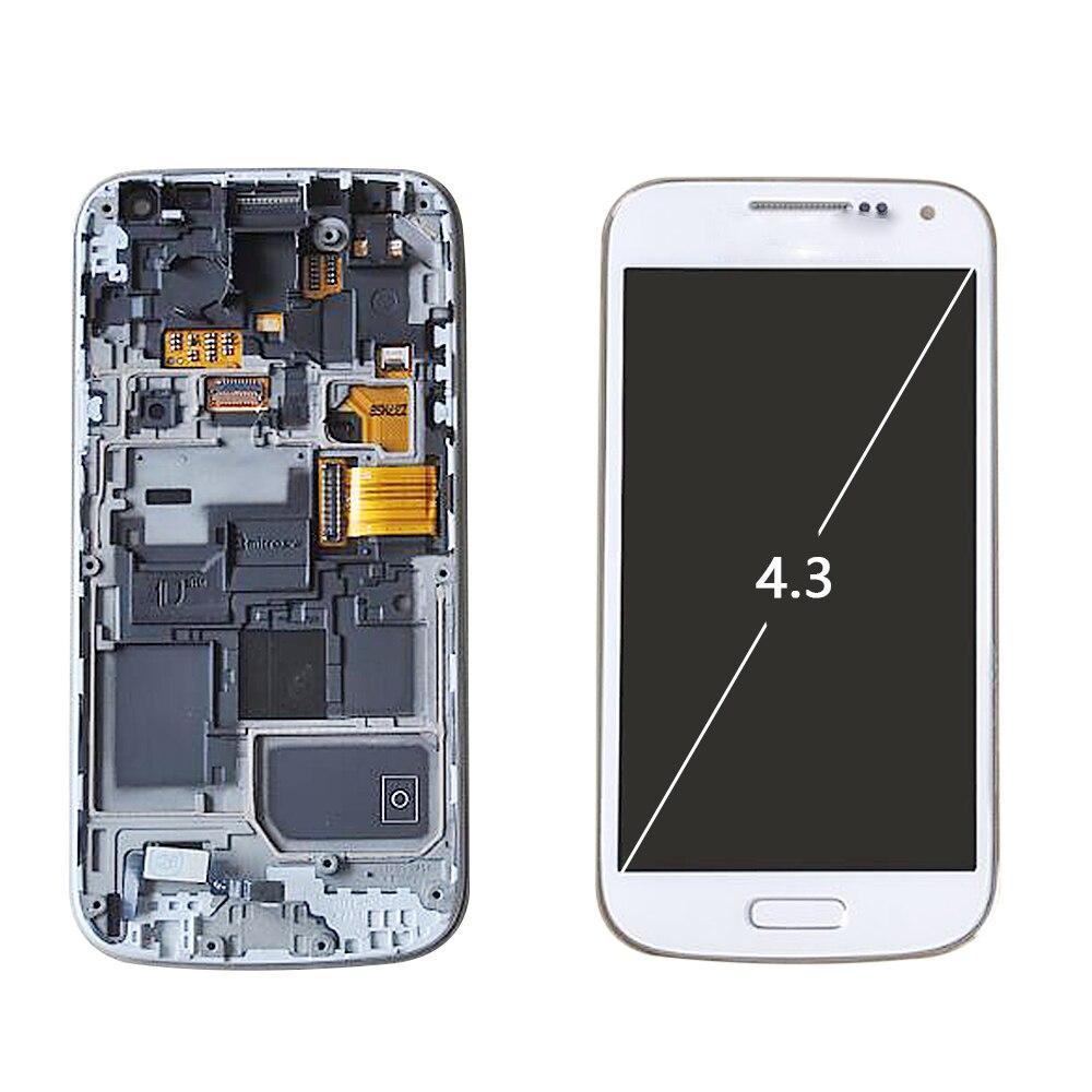 966e504e0b1 Sinbeda Super AMOLED pantalla LCD para SAMSUNG GALAXY S4 Mini digitalizador de  pantalla táctil de la Asamblea i9190 i9192 i9195 pantalla LCD con marco