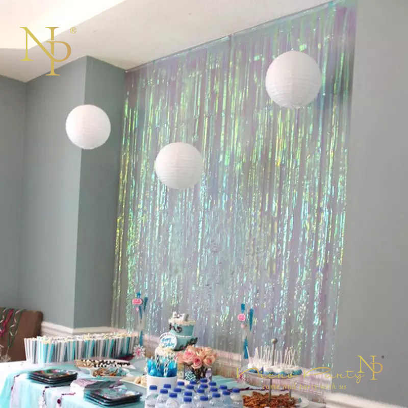 Nicro 3M Rain Curtain Colorful Tassel New Decoration New DIY Decor Party Home Christmas Birthday  Decorations xms Navidad #Tas21