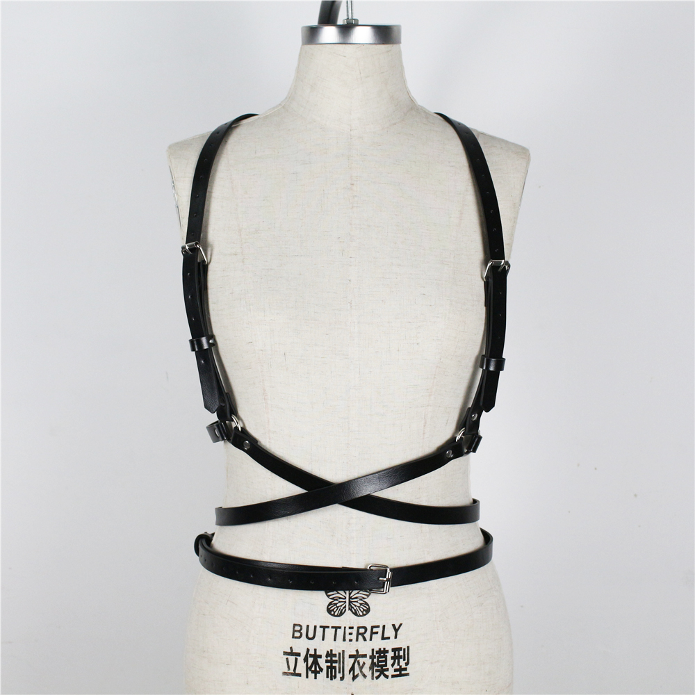 UYEE Trendy Sexy Lingerie Belt Adjustable Leather Garter Women For Female Erotic Waistband Body Suspenders Harness LB-007 4