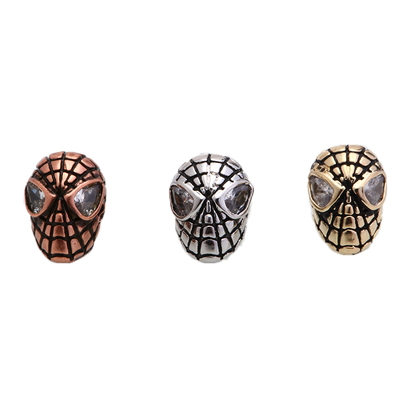 Magic Fish 1pcs Diy Spiderman Jewelry Accessories Beads Hand Made Men Bracelets Wholesale Choker Jewelry Findings Perlen Online Discount Beads