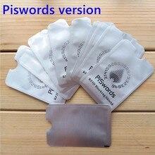 10 pces nfc rfid proteção que obstrui a luva anti varredura para o cartão de crédito seguro identidade atm proteger ic cartão protetor titular bloqueador