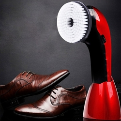 EYKOSI Rechargeable Portable Handheld Automatic Electric Shoe Brush Shine Polisher 2 Ways Power Supply