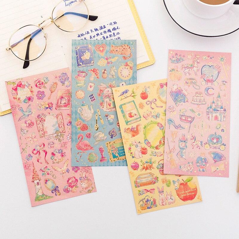 Kawaii Stationery Cartoon Fairy Bullet Journal Sticker for DIY Diary Creative Cute Handmade Adhesive Labels Sticker