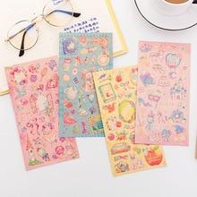 Kawaii Papelaria Bala de Fadas Dos Desenhos Animados Diário Etiqueta para DIY Diário Criativo Bonito Feito À Mão Etiquetas Adesivas Adesivo Scrapbooking
