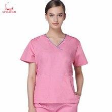 Operating gown men and women short sleeve operating room doctors wear nurses wash clothes beauty salon uniform