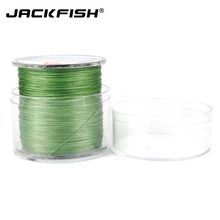 JACKFISH 8 strand 300M Smoother PE Braided Fishing Line With Box 10-60LB Multifilament Fishing Line Carp Fishing Saltwater