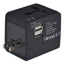 Universal de Viagem Tomada com Dual Adaptador AC Plug Power Usb Carregador Reino Unido Eua AU UE