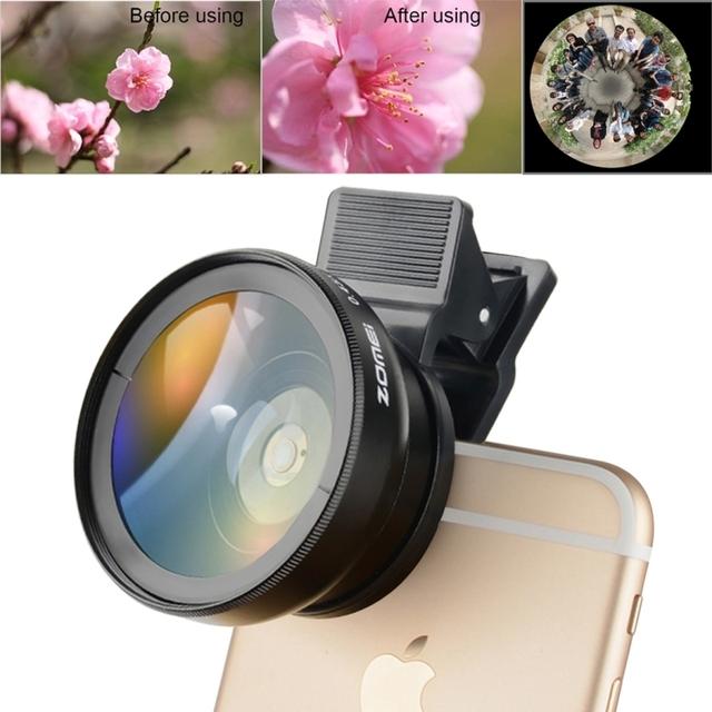 3 em 1 Wide Angle + 0.42X eys + Clipe de peixe Câmera do Smartphone filtro de lente para huawei iphone 7 6 6 s 5S samsung s7 edge htc