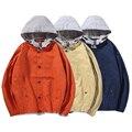 2016 Повседневная Твердые мужская Толстовки Высокого Качества Хип-Хоп Куртка Колледж мужская Пальто Большой размер мужской Колледж стиль Куртка Z803