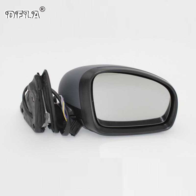 For Skoda Fabia MK2 2007 2008 2009 2010 2011 2012 2013 2014 2015 Car-Styling Heated Electric Wing Side Rear Mirror Right Side aluminium alloy fabric rear trunk security shield cargo cover for mitsubishi outlander 2007 2008 2009 2010 2011 2012