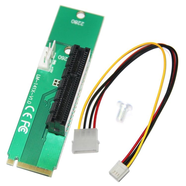 10 UNIDS / LOTE Envío Gratis NGFF M2 a PCI-E 4X Ranura Adaptador - Cables de computadora y conectores - foto 2