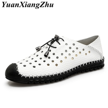 Men Casual Shoes 2019 Summer Breathable Leather Holes chaussure homme Luxury Brand Flat Shoes Man Driving Shoes Men's Boat Shoes heinrich new style design flat men luxury loafer shoes casual breathable slip on driving shoes chaussure de securite pour homme