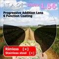 Adulto 1.56 Freeform Índice Progressivas Multifocais Prescrição Óptica Óculos de Lente Para Óculos Com 6 Função de Revestimento