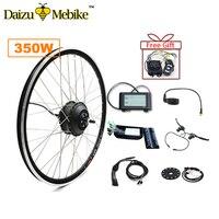 350 Вт 36 В Электрический велосипед Ebike Conversion Kit 20 24 26 700C бесщеточный шестерни двигатель колеса без литиевых батарея светодио дный ЖК дисплей
