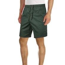 MJARTORIA 2019 Men's Knee Length Print Cargo Shorts Men Black Green Casual Multi-pocket Loose Shorts Male Thin Short Trousers