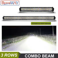 BraveWay HA CONDOTTO LA Luce Bar per Trattore fuori strada del Camion ATV SUV LADA NIVA 4WD UAZ 4x4 Luce di Azionamento 12V 24V Luce del Lavoro