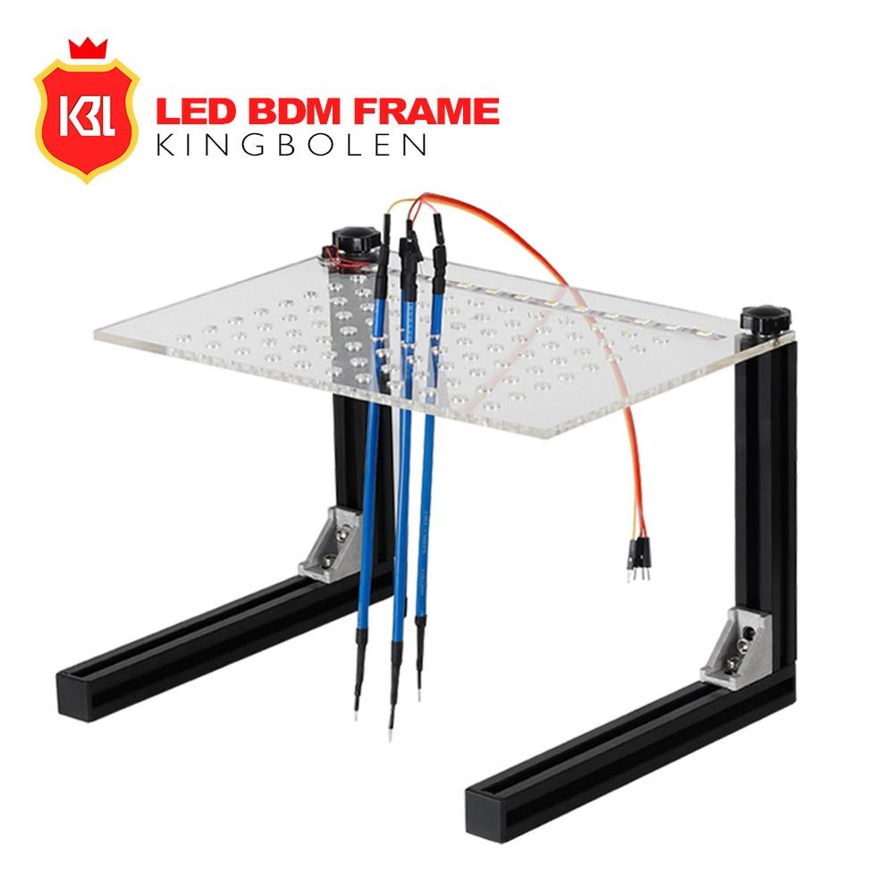 Nouvellement Ensemble Complet LED BDM Cadre ECU Outil de Programmation BDM Support avec LED Lumière 4 Sonde Pins Pour Ktag KESS V2 Galletto BDM100 dans Batterie Testeurs de Automobiles et Motos