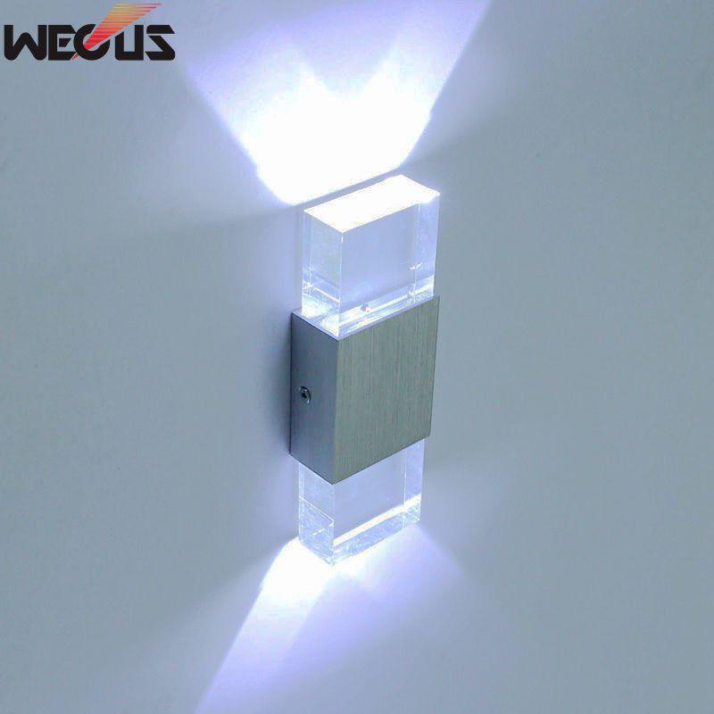 Quality assurance, acrylic block wall lamp, LED wall lamp. AC90-265V 2W