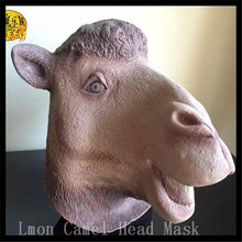 Free shipping Halloween Party Cosplay Eco-friendly Fancy Dress Latex Camel Full Head Mask Realistic Accoutrements camel Mask